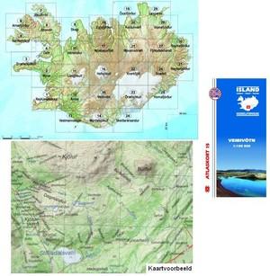 Island Atlaskort 15 Veidivotn 1:100.000