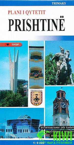 Stadsplattegrond Prishtina 1:9d Trima