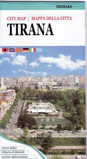 Tirana City Map 1:8,5d