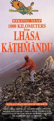 Bk1002 Biking Map: Lhasa To Kathmandu 1000km 1:400.000