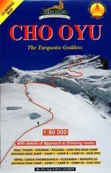 Cho Oyu Climbing Map 1:50.000