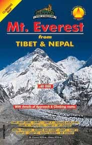 Mt Everest, From Tibet And Nepal - Climbing Map 1:40.000