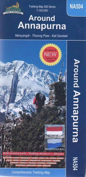NA504 Around Annapurna trekking map