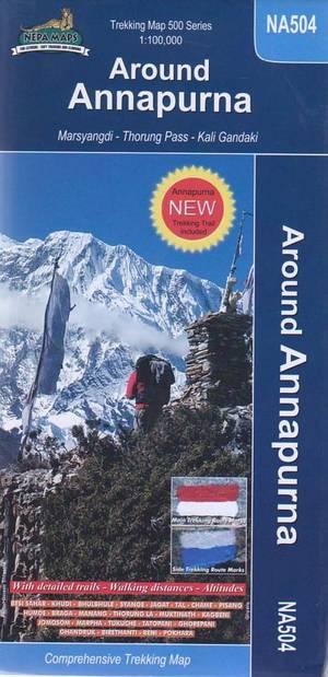 NA504 Around Annapurna trekking map