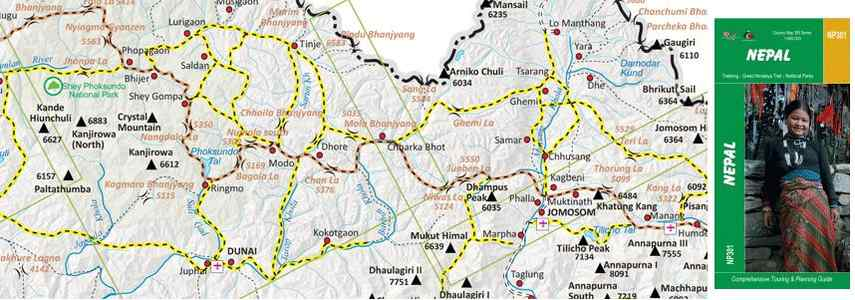 Great Himalaya Trail Nepal Country Route Planner 1: 500.000
