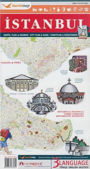 Istanbul Tourist City Map Mepmedya
