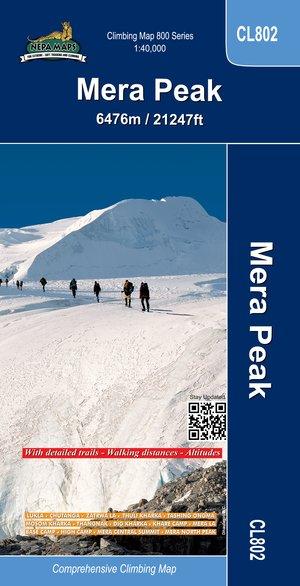Cl802 Mera Peak Climbing Map 1:30.000