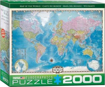 Eurographic - map of the world- puzzel 2000st