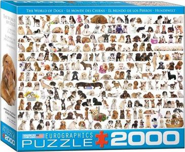 Eurographic - world of dogs- puzzel 2000st