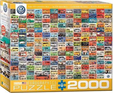 Eurographic -vw groovy bus- puzzel 2000st