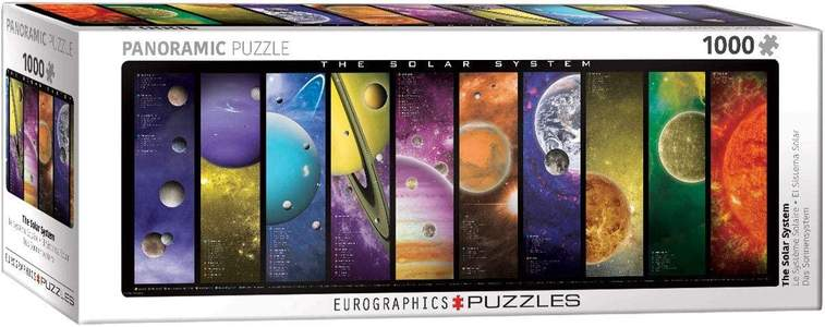 Eurographics panoramic solar system puzzel 1000st