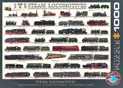 Eurographics steam locomotives puzzel 1000st