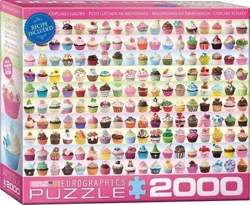 Eeurographic - cupcakes galore- puzzel 2000st