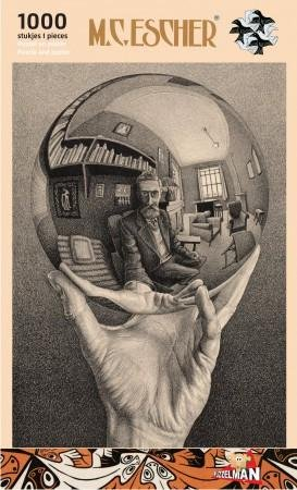 Escher   puzzel  -spiegelende bol- 1000st