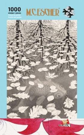 Escher puzzel  -drie werelden-  1000st