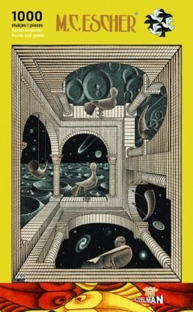 Escher puzzel -andere wereld-  1000 st
