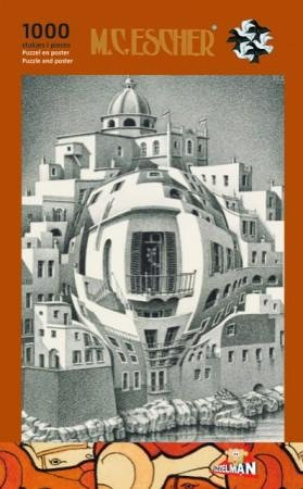 Escher puzzel -balkon-   1000st