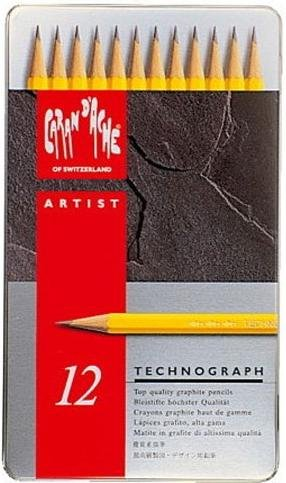 Technograph 12 grafietpotloden          4h-6b