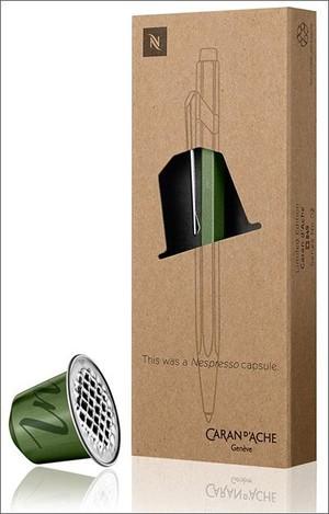 caran d'ache balpen 849 nespresso groen limited edition
