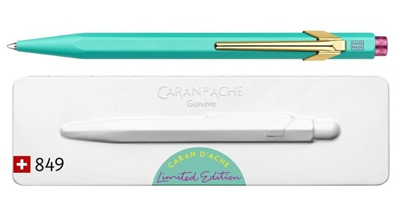 Caran d'ache balpen 849 claim your style  turquoise