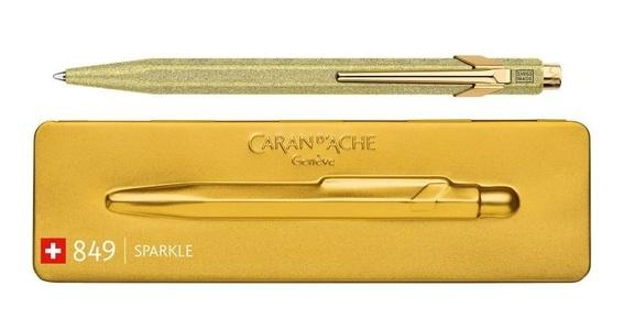 Caran d'ache balpen 849 gold sparkle limited edition