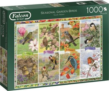 Falcon seasonal garden birds puzzel 1000st