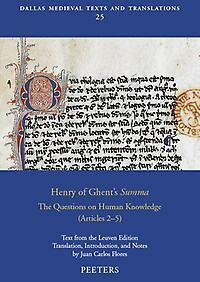 Henry of Ghent's «Summa»