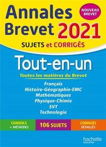 Annales Brevet ; Tout-en-un ; Sujets Et Corriges (edition 2021)