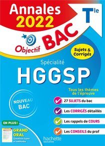 Objectif Bac ; Specialite Hggsp ; Terminale ; Annales