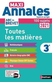 Maxi Annales Abc Du Brevet T.8 ; Toutes Les Matieres ; 3e (edition 2020)