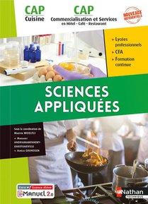 Sciences Appliquees : Cap Cuisine & Cap Commercialisation Et Services En Hcr (edition 2021)