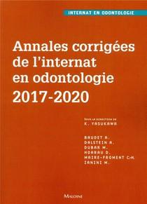 Annales Corrigees De L'internat En Odontologie 2017-2020