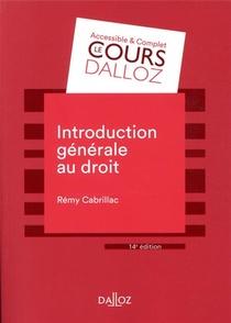 Introduction Generale Au Droit (14e Edition)