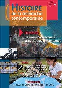 Histoire De La Recherche Contemporaine N.2020/9.1