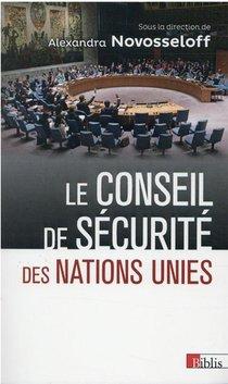 Le Conseil De Securite Des Nations Unies