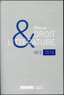 Revue Droit & Litterature N.2018/2