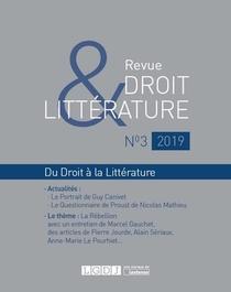 Revue Droit & Litterature N.3 (edition 2019)