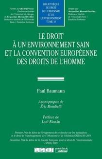 Le Droit A Un Environnement Sain Et La Convention Europeenne Des Droits De L'homme