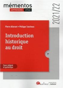Introduction Historique Au Droit (edition 2021/2022)