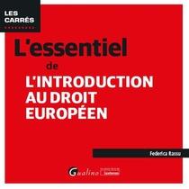L'essentiel De L'introduction Au Droit Europeen