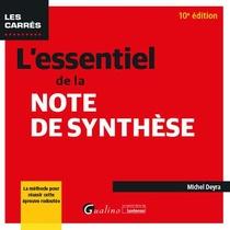 L'essentiel De La Note De Synthese (10e Edition)