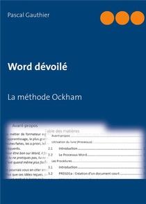 Word Devoile ; La Methode Ockham