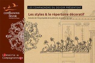 """Les Styles Et Le Repertoire Decoratif - Extraits De L'encyclopedie """"la Platrerie, Le Staff Et Le Stu"""