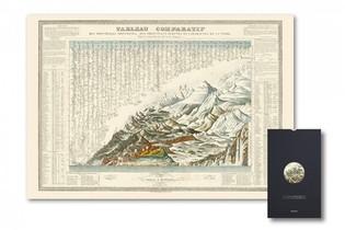 Carte - Montagnes, Fleuves Et Cascades