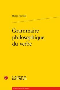 Grammaire Philosophique Du Verbe