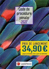Code De Procedure Penale : Jaquette Plumes (edition 2022)