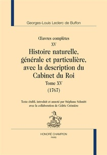 Oeuvres Completes T.15 ; Histoire Naturelle T.15