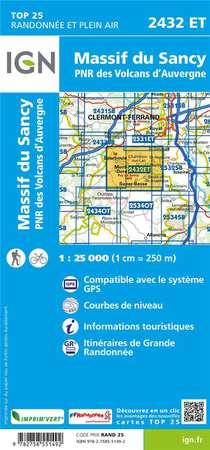 2432 Et ; Massif Du Sancy, Pnr Des Volcans D'auvergne (6e Edition)