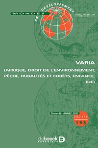 Mondes En Developpement 2021/1 - 193 - Varia (afrique, Droit De L'environnement, Peche, Ruralites Et