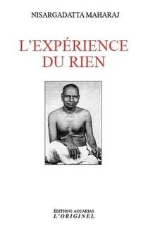L'experience Du Rien : Entretiens Sur La Realisation De L'infini